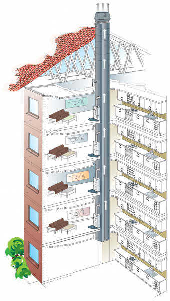 chimney fan hotels illustration